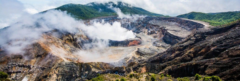 Vulcão Poás, Catarata de La Paz e plantação de café do Starbucks