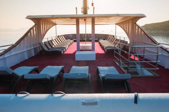 The deck of the boat