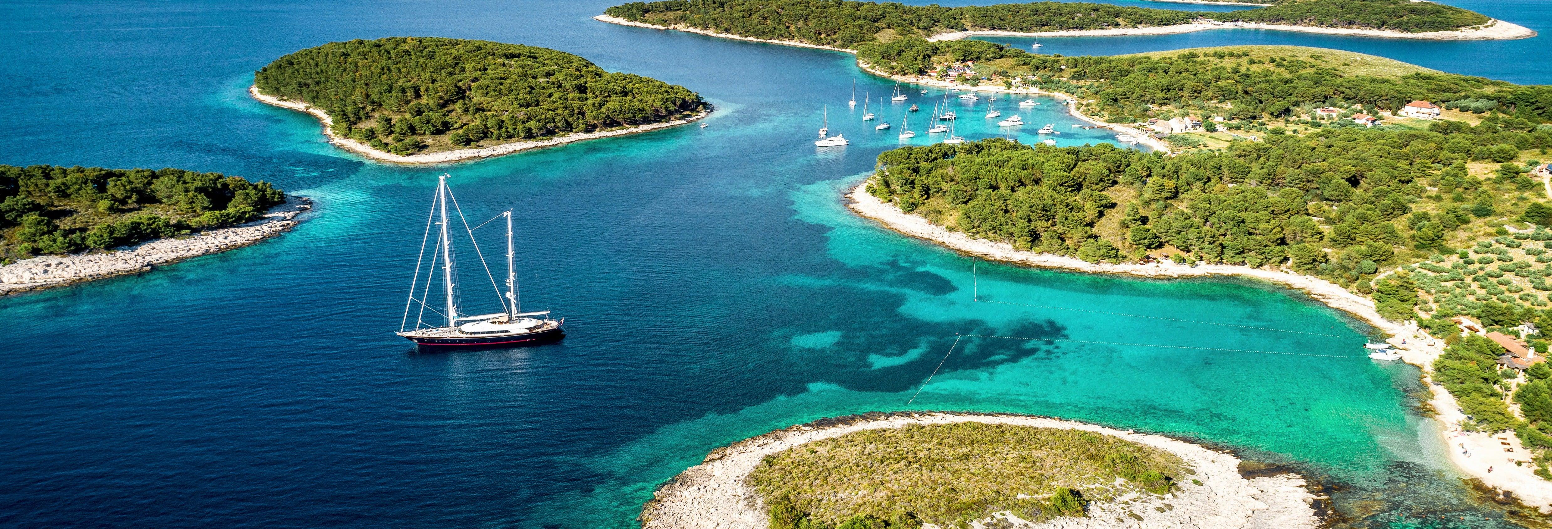 Crociera delle isole Spalmadori al tramonto