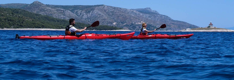 Tour delle isole Spalmadori in kayak