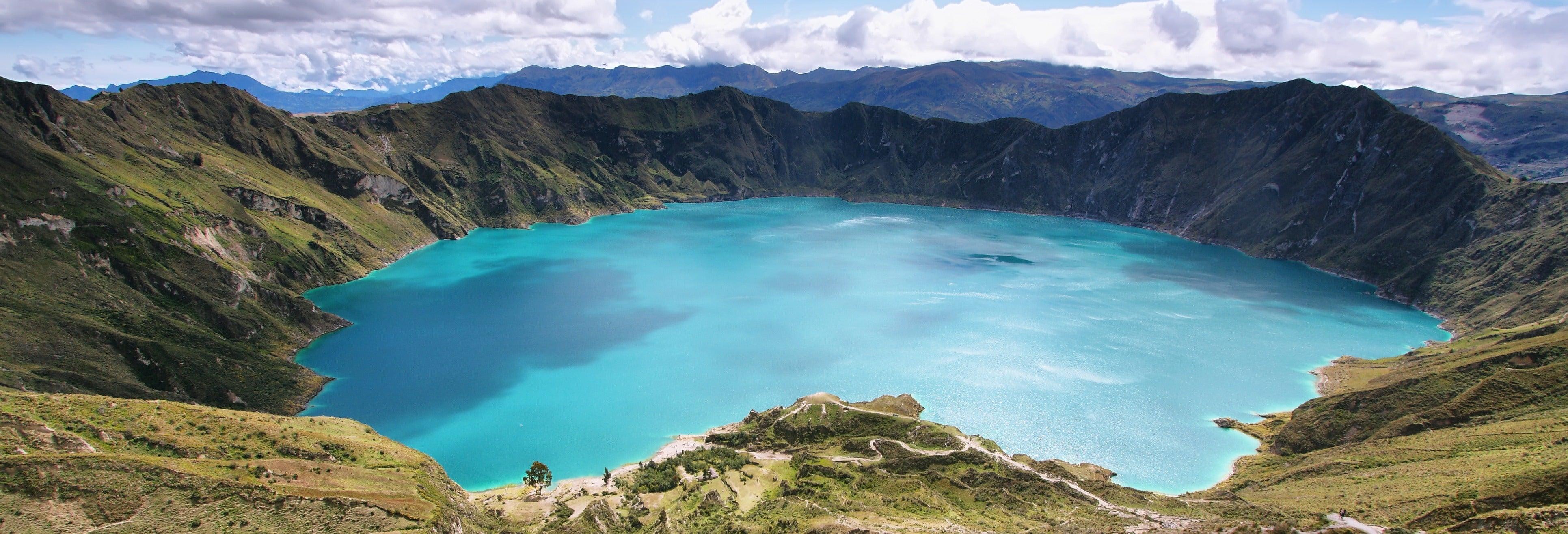 Excursão à lagoa de Quilotoa