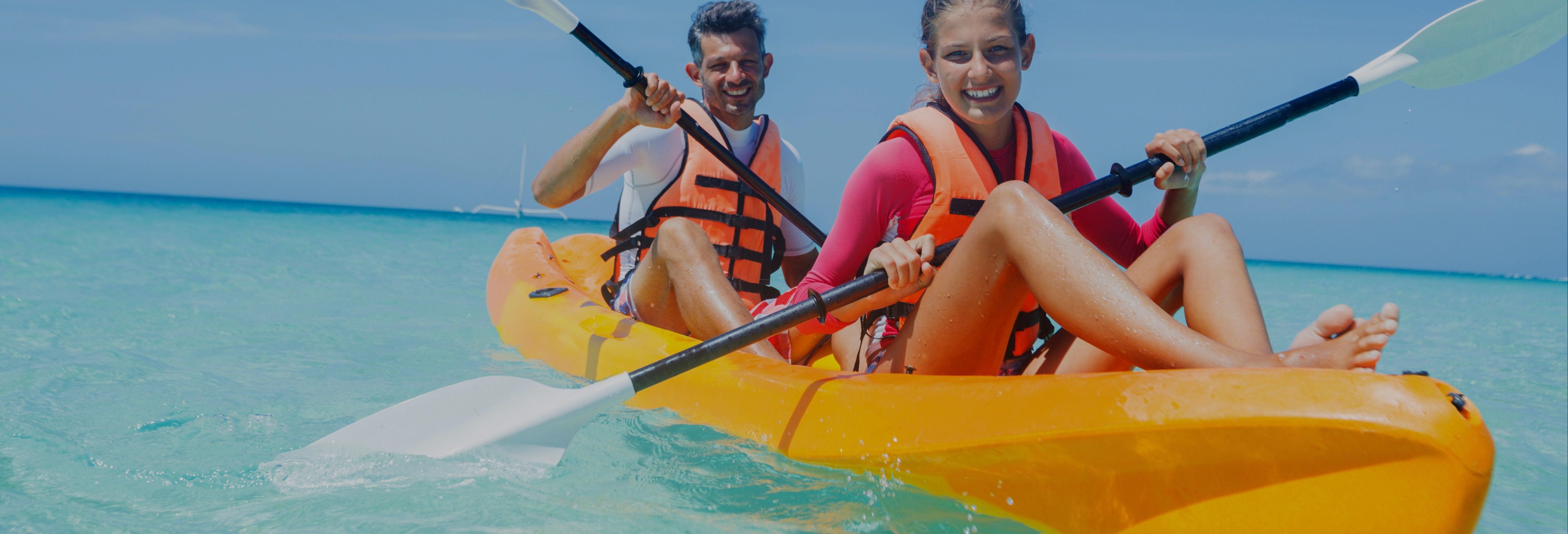 Kayak o paddle surf en la bahía de Santa Cruz