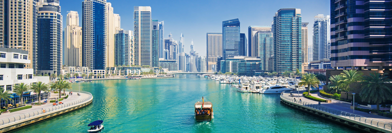 Paseo en barco por Dubái Marina + Burj Khalifa con cena