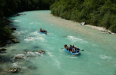 Rafting en el río Isonzo
