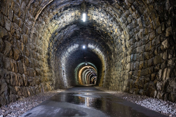 One of the tunnels of the Parenzana Route