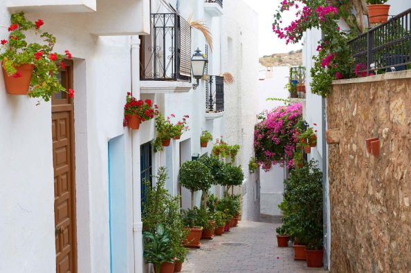 Exploring the picturesque streets of Mojácar