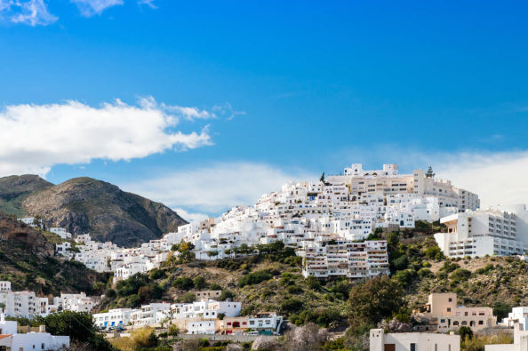 Panoramic view of the white town of Mojácar