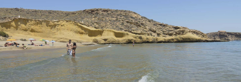 Trilha pela reserva natural de Cuatro Calas