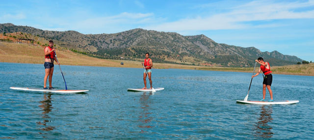 Paddle surf en el embalse de Alange