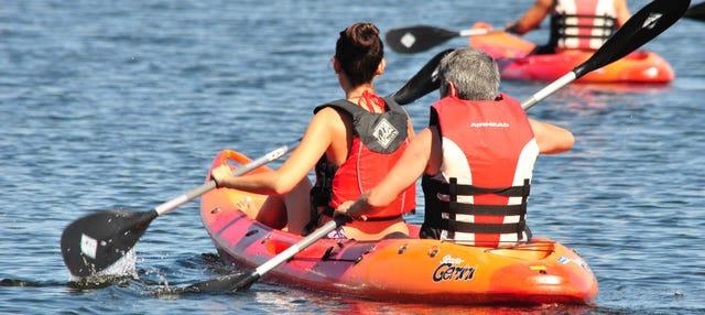 Tour en kayak por el embalse de Alcántara