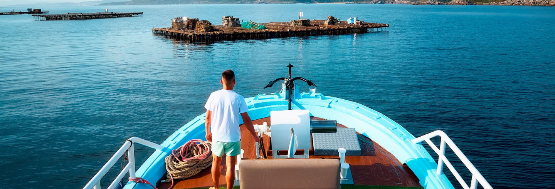 Paseo en barco por la ría de Aldán + Degustación de mejillones