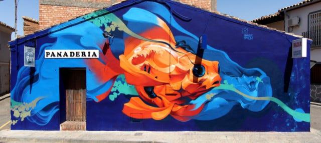 Tour del arte urbano por Alfamén