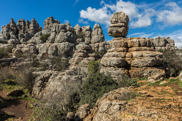 Karst formations in Torcal de Antequera