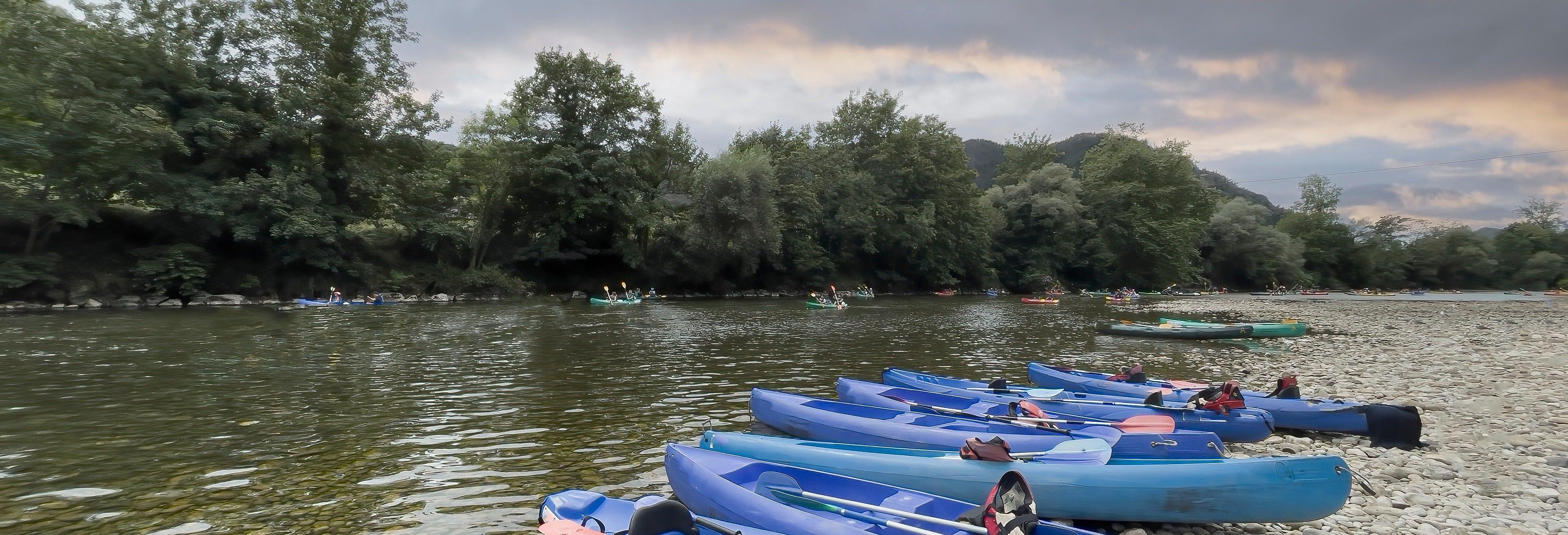 Discesa in canoa del fiume Sella
