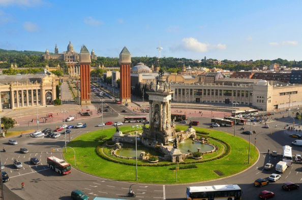 Views from Montjuïc's cable car