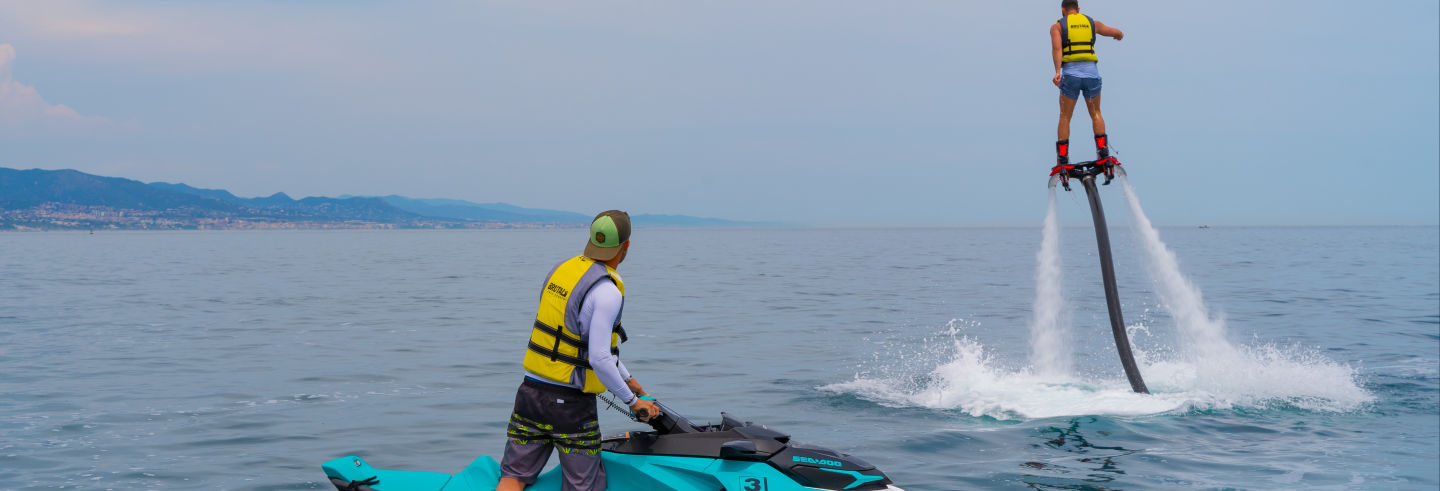 Hoverboarding or Flyboarding in Barcelona