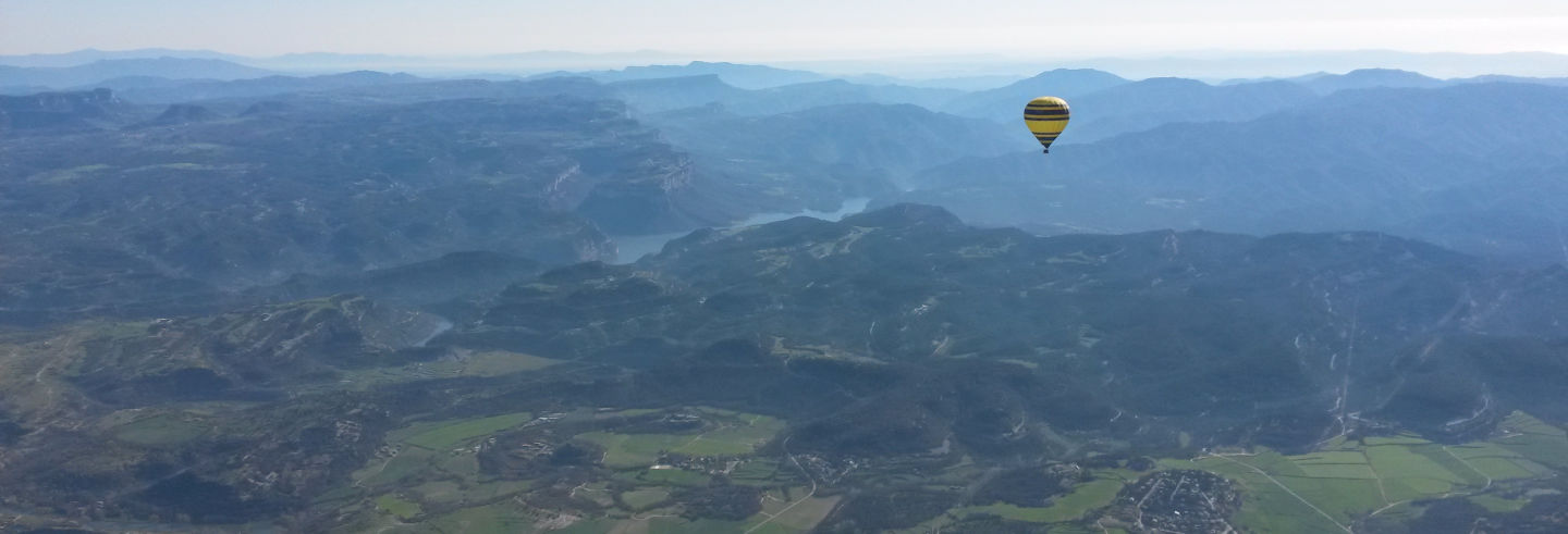 Giro in mongolfiera sul Montseny