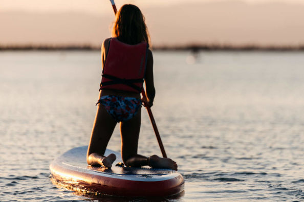 Paddle surfing in Cambrils