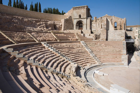 Seating section of the Roman Theater