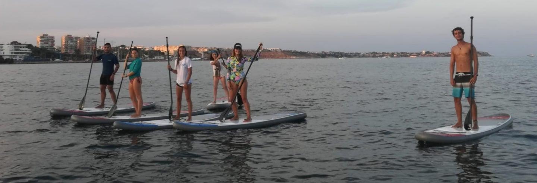 Excursión en paddle surf por Dehesa de Campoamor
