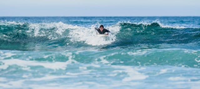 Curso de surf en La Lanzada