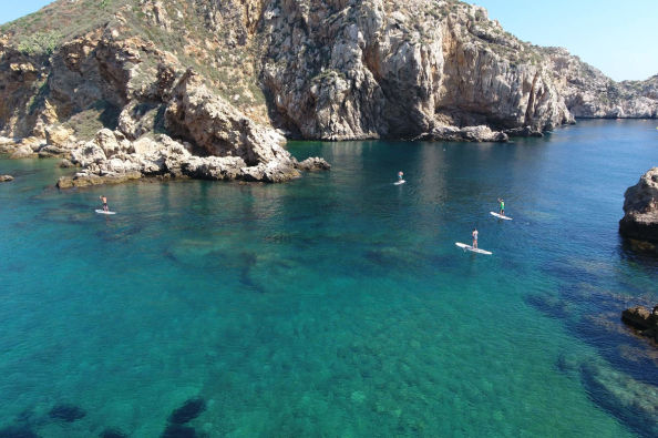 Divertimento in paddle surf alle Isole Medas