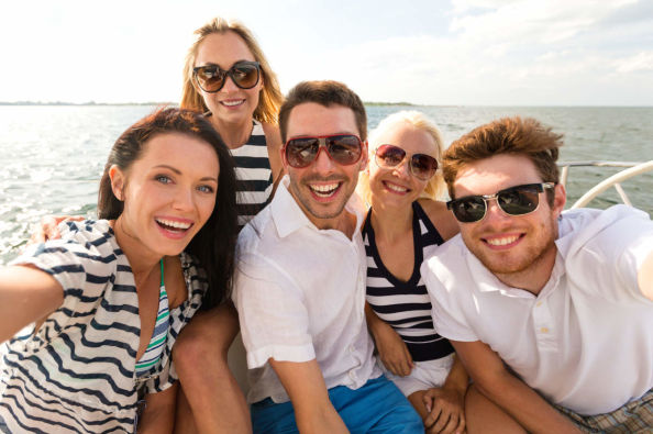 Enjoying the boat from Figueretas to Formentera