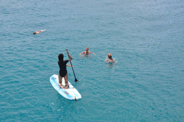 Jump in the sea during the boat trip