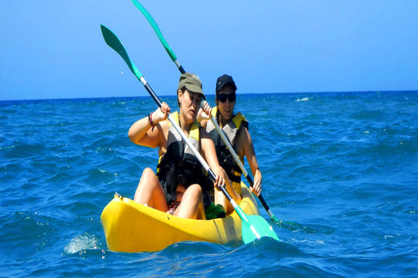 Kayaking on the south coast of Gran Canaria