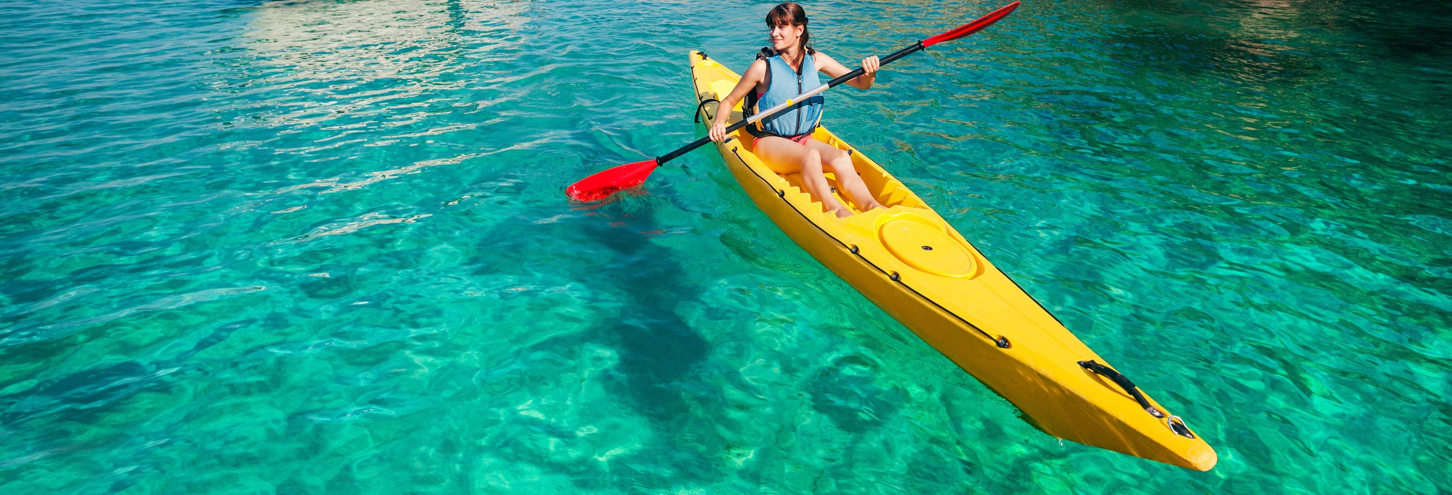 Kayak y snorkel en la playa de La Rijana