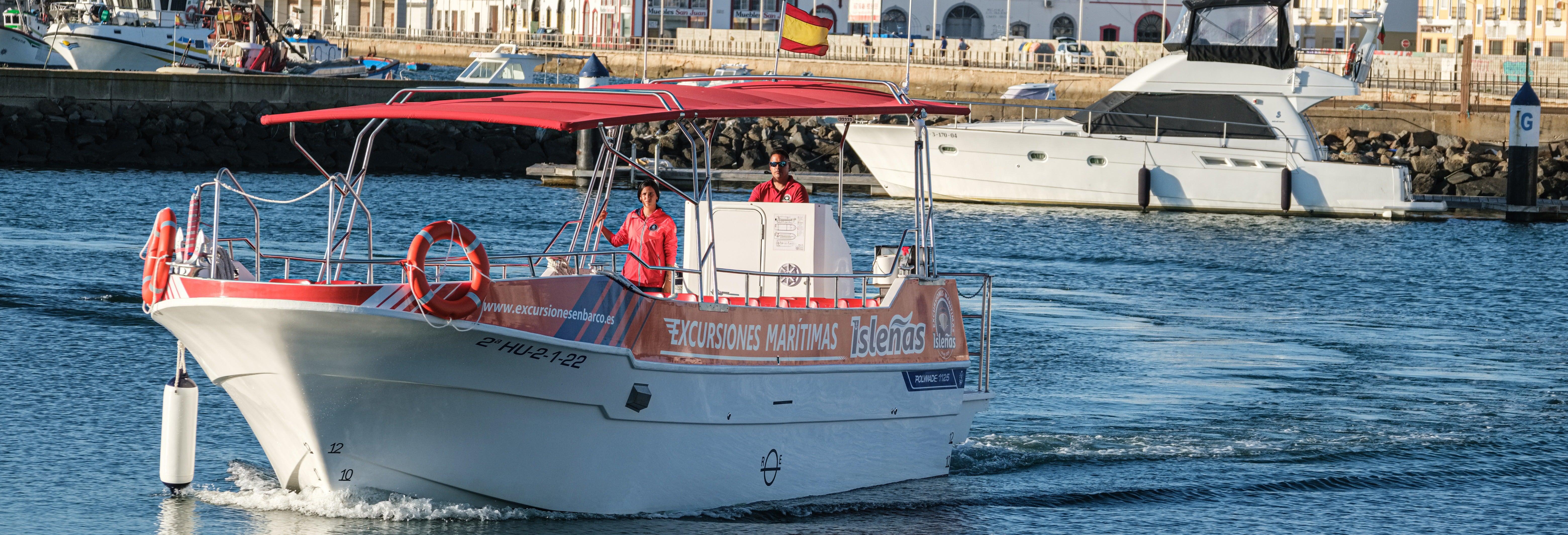 Paseo en barco por las marismas y Punta del Moral