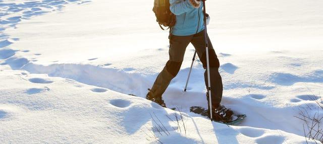 Paseo con raquetas de nieve por Fuentes de Invierno