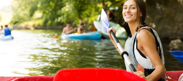 Descenso del río Nalón en canoa