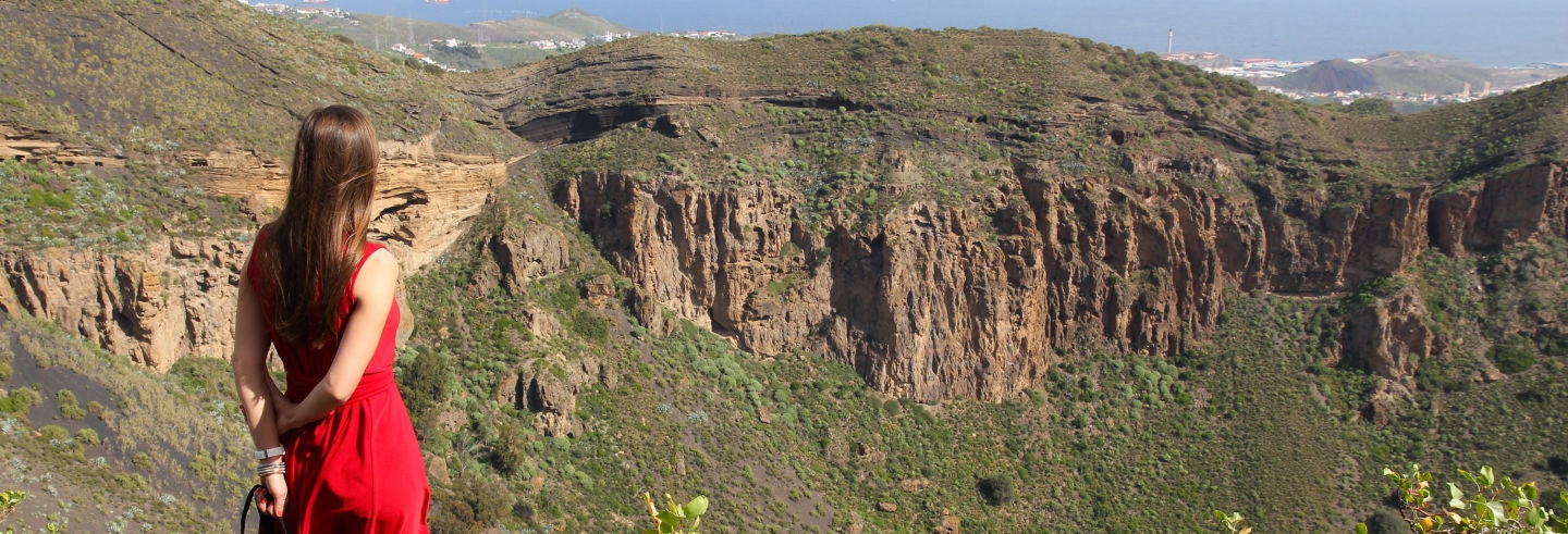 Teror, el Roque Nublo y la caldera de Bandama desde Las Palmas