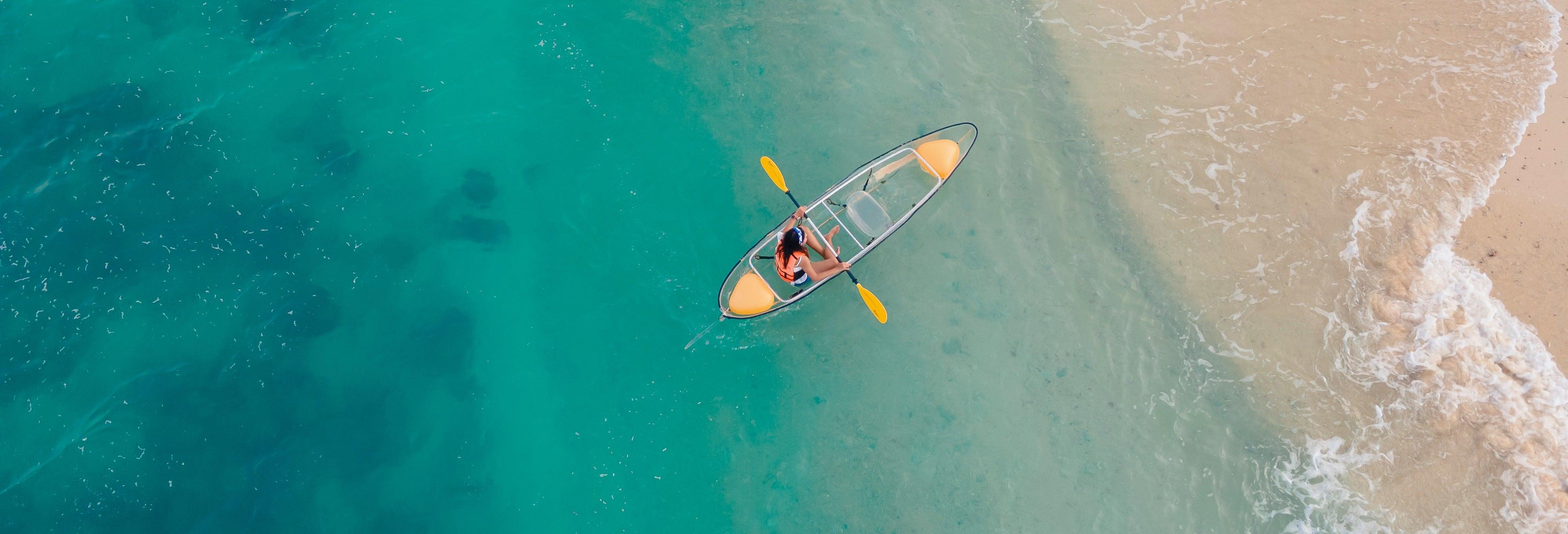 Tour en kayak transparente por la playa de Las Canteras