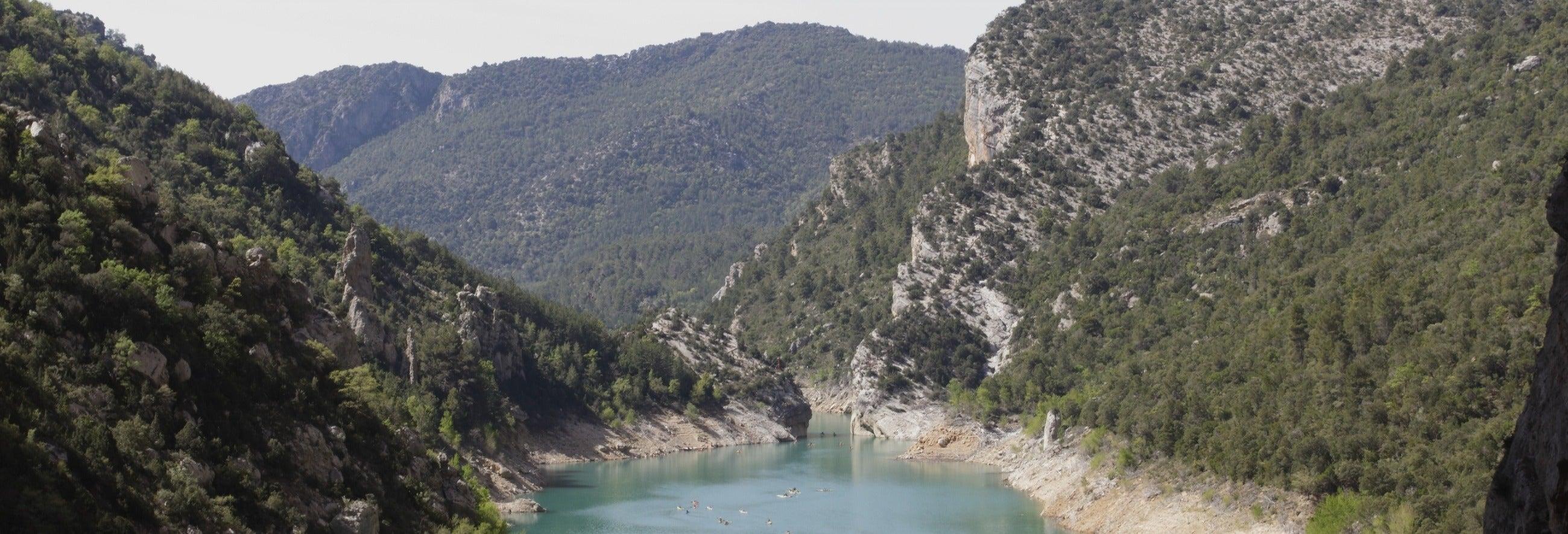 Descente de la rivière Noguera Pallaresa en kayak