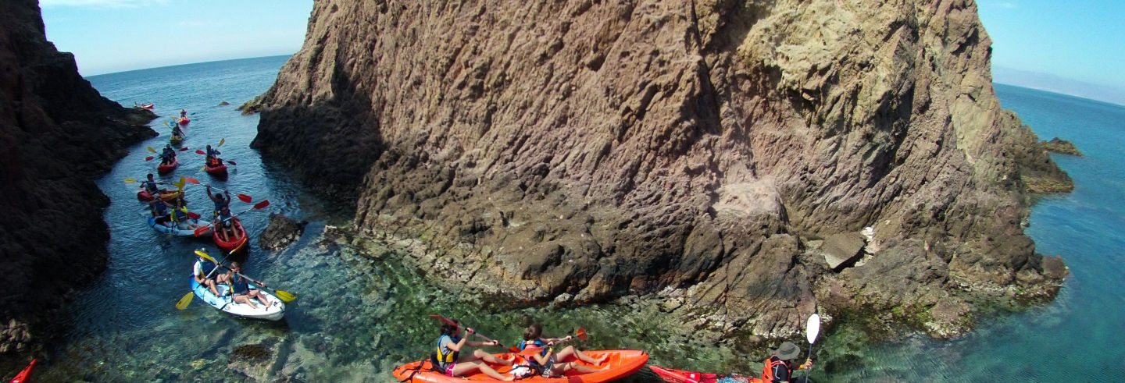 Caiaque + snorkel pelo Cabo de Gata