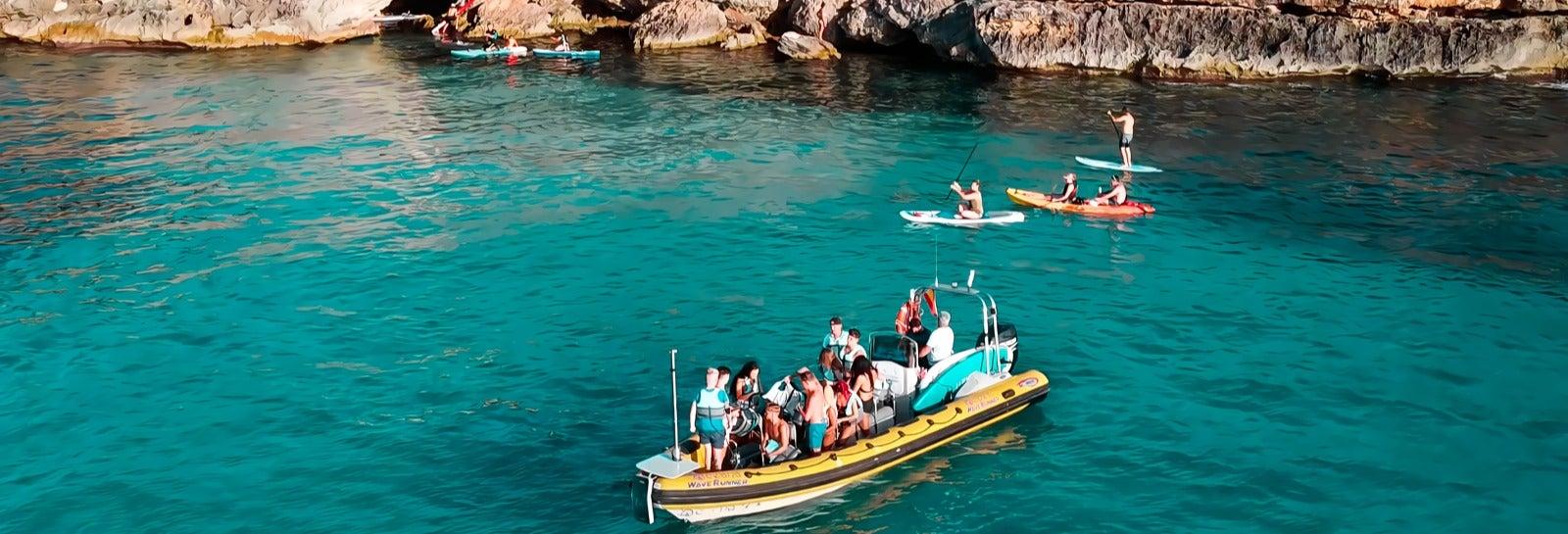 Lancha rápida desde Magaluf + Actividades acuáticas
