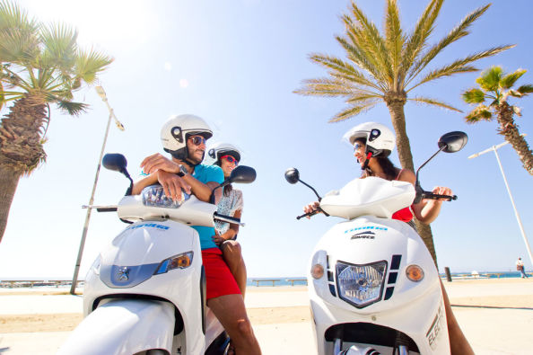Exploring Menorca on a scooter