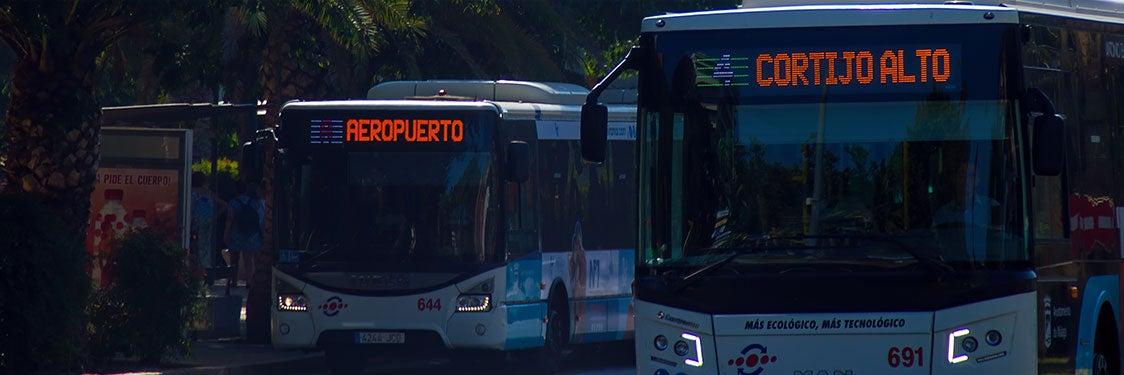 Autobuses en Málaga