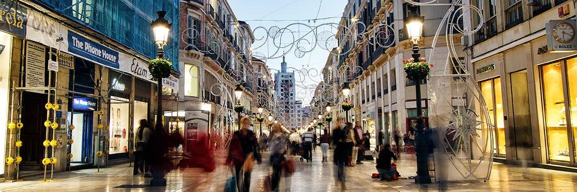 Horario comercial de Málaga