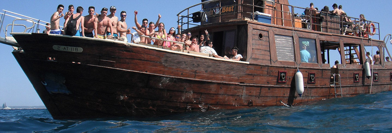 Fiesta en barco pirata por la bahía de Palma