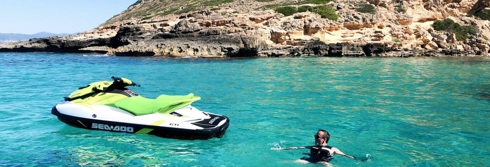Reserva Natural de los Deltas en moto de agua desde Palma