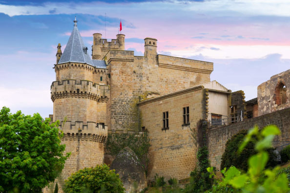 The gothic castle in Olite