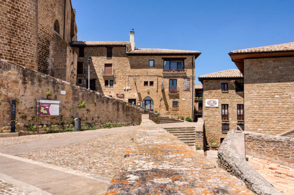 The town of Ujue in Navarra