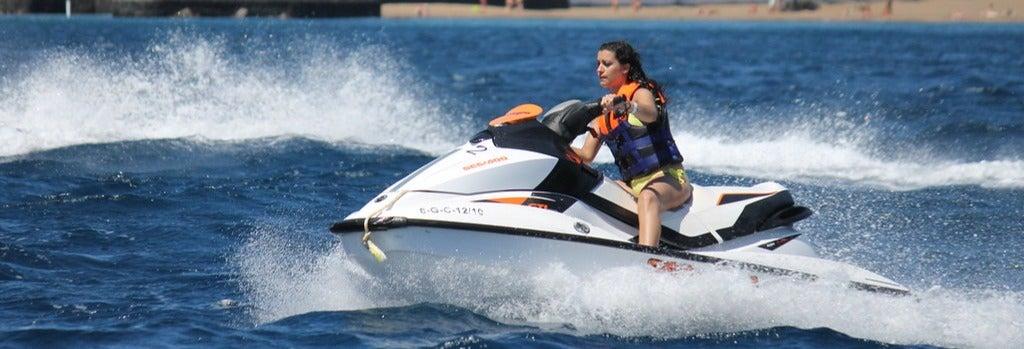 Tour en moto de agua por Playa Blanca
