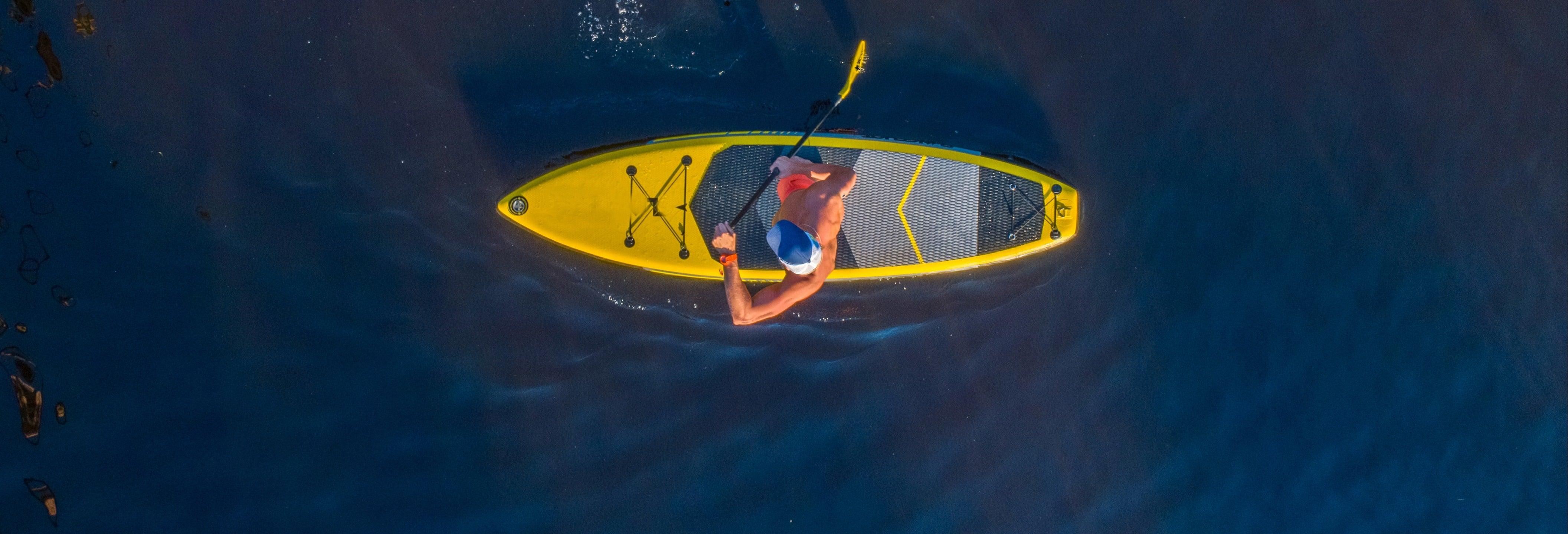 Alquiler de equipo de paddle surf en Playa Santiago