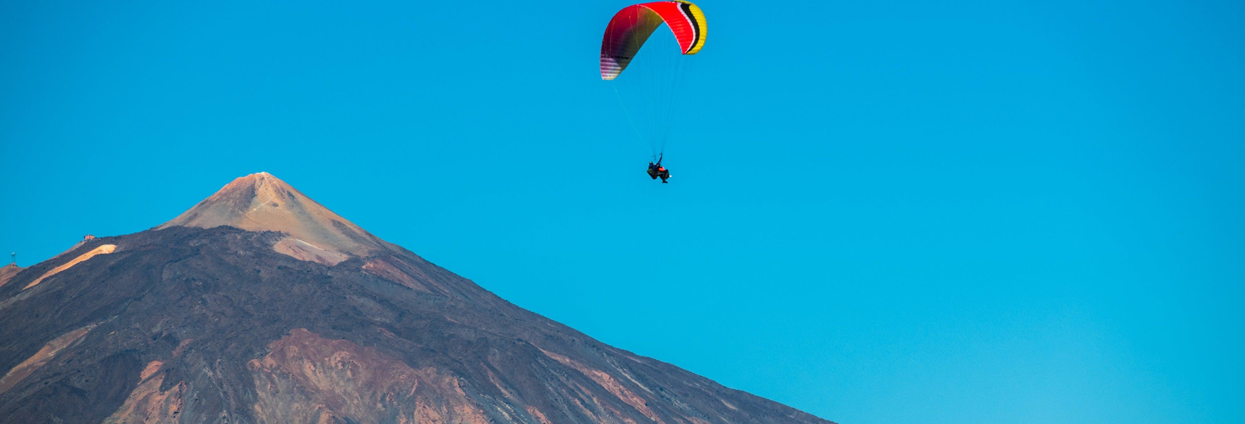 Volo in parapendio sul Teide