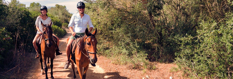 Passeggiata a cavallo a Punta Entinas Sabinar