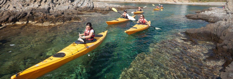 Trilha + Caiaque e snorkel pela Costa Brava
